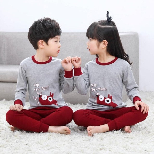 Kids Boys Sleepwear baby girl spring cotton sets Children Homewear Pajamas for Boy Pyjamas Kids Nightwear 2-13Y teenage clothes
