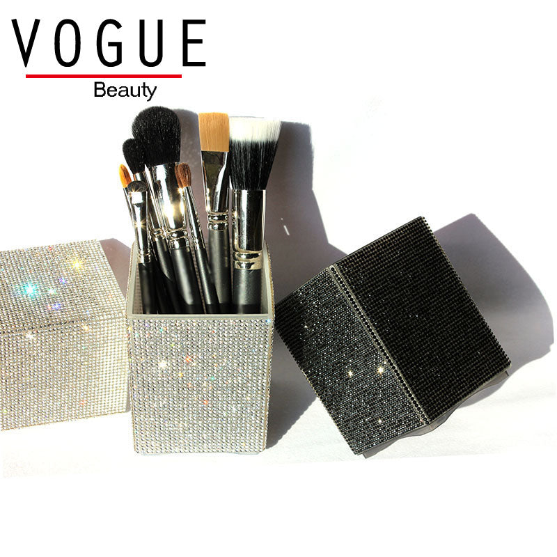 Big Diamond Mermaid makeup brush holder Crystal Rhinestone makeup brush set case makeup brushes organizer container cup cosmetic