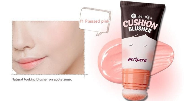 PERIPERA Ah! Much Real My Cushion Blusher 20ml Face Blusher Rouge Makeup Face Cheek Natural Minerals Blush Cream Korea Cosmetics