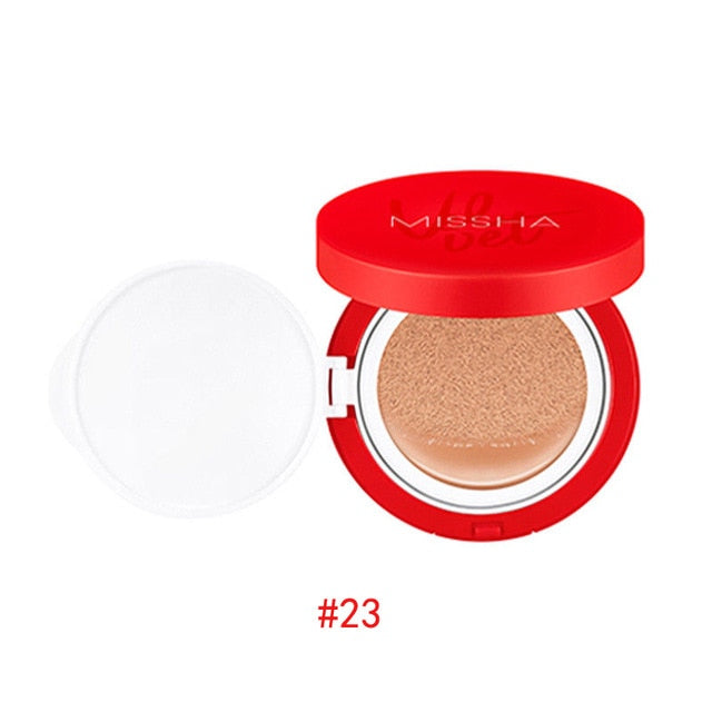 MISSHA Velvet Finish Cushion (SPF50+ / PA+++) BB Cream Sunscreen Air Cushion Concealer Moisturizing Foundation Whitening Makeup