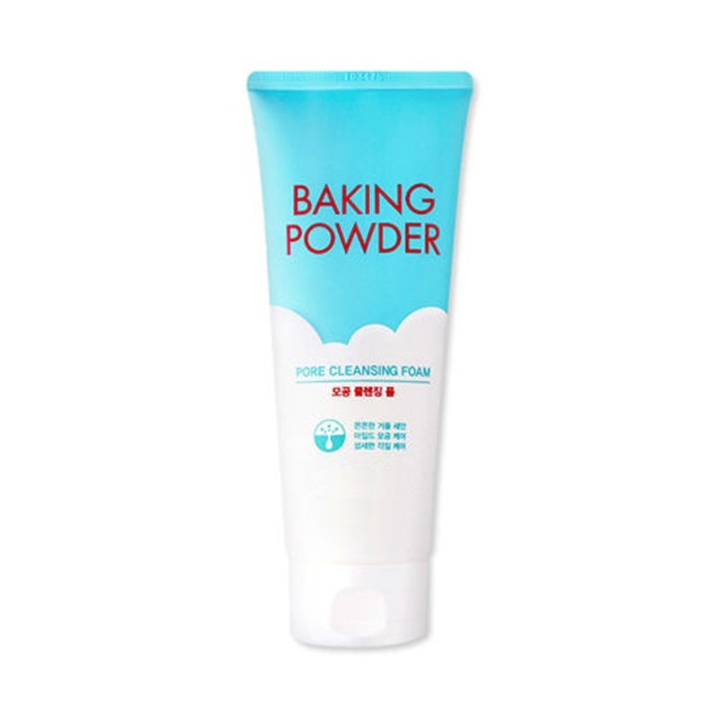 Baking Powder Pore Cleansing Foam 160ml Facial Cleanser Shrink Pore Skin Care Deep Clean Scrub Whitening Skin Korean Cosmetics