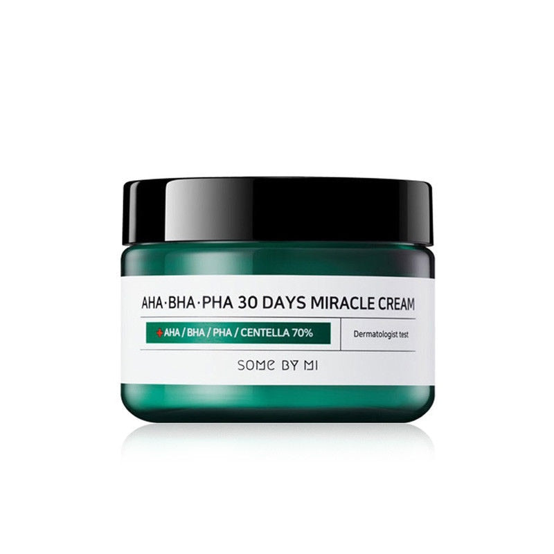 SOME BY MI AHA BHA PHA 30 Days Miracle Cream 50ml Sebum Control Moisturizer Face Cream Acne Treatment Whitening Cream SOMEBYMI