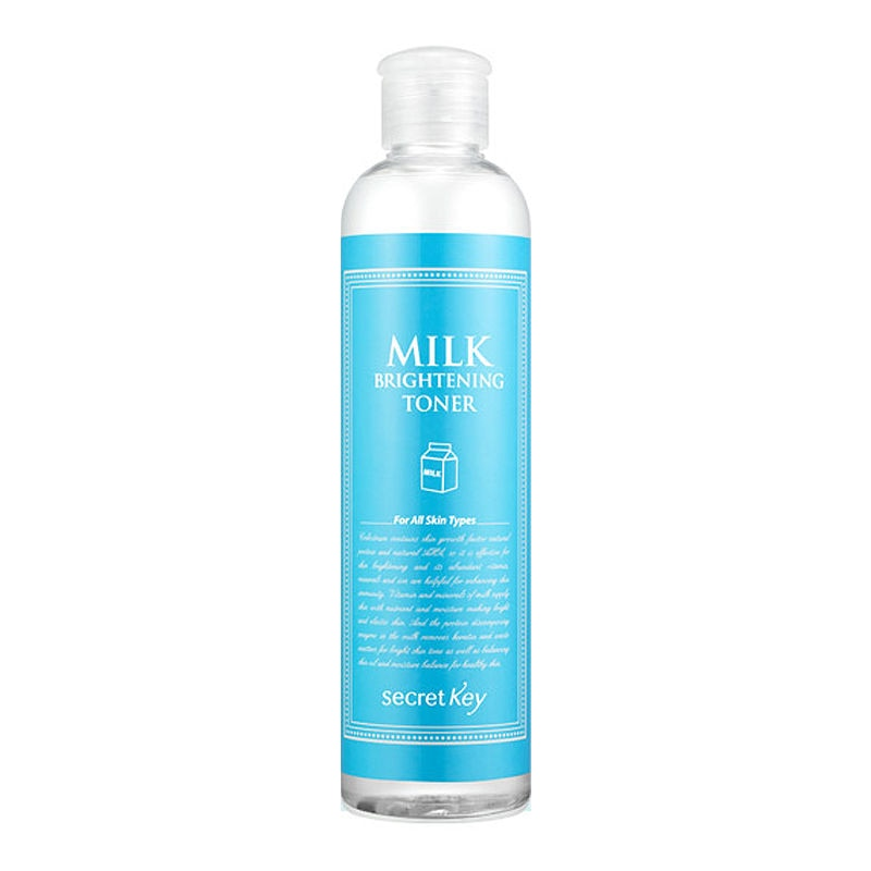 SECRET KEY Milk Brightening Toner 248ml Face Toner Skin Care Moisturizing Whitening Acne Treatment Facial Serum Essence