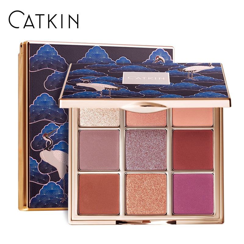 CATKIN 1.6g*9 Seasonal 9 Colors Eyeshadow Palette C02 Summer Rain Eye Makeup Glitter Eyeshadow