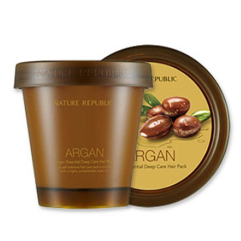 Nature Republic Argan Essential Deep Care Hair Pack 200ml Hair Care Mask Scalp Repair Dry Damage Hair Treatment Korean Cosmetics