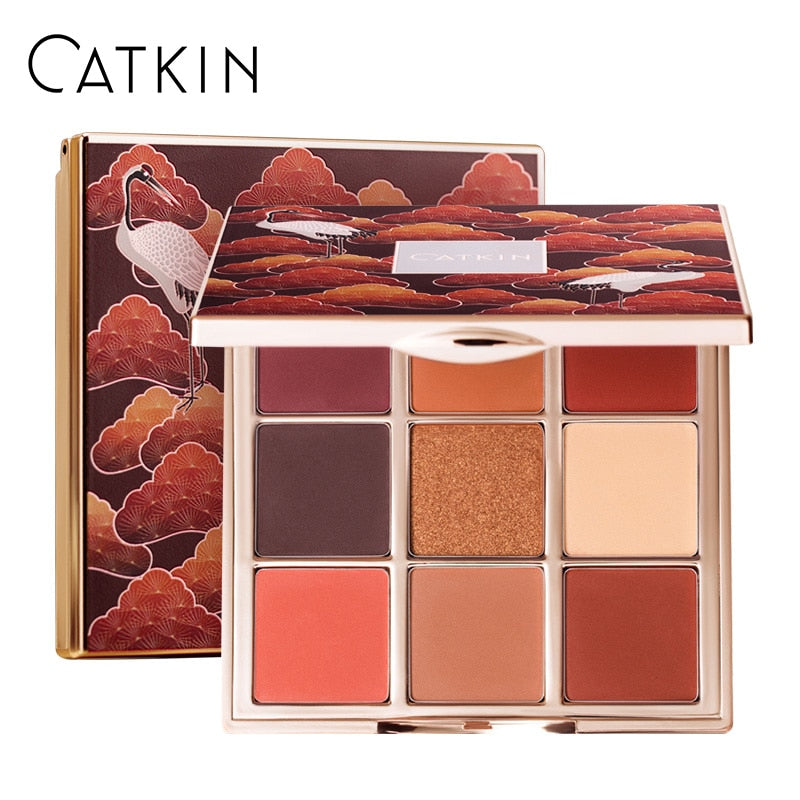 CATKIN 1.6g*9 Seasonal 9 Colors Eyeshadow Palette C03 Autumn Moon Waterproof / Water-Resistant Natural Makeup