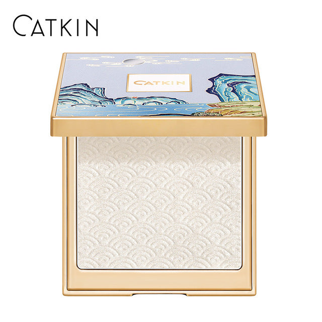 CATKIN 12g Moonlight Contour Palette C01 White with Blue Makeup Color Corrector