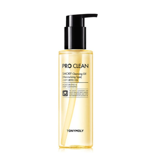 TONYMOLY Pro Clean Smoky Cleansing Oil 150ml Makeup Remover Face Cleanser Deep Clean Removes Impurities Stubborn Dead Skin Cells