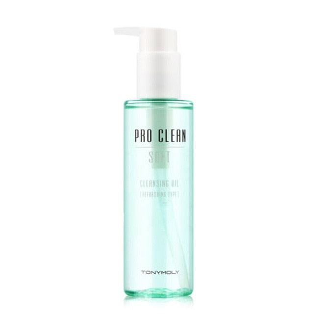 TONYMOLY Pro Clean Soft Cleansing Oil 150ml Face Makeup Remover Liquid Water Eye Lip Facial Cleansing Moisturizing Oil Control