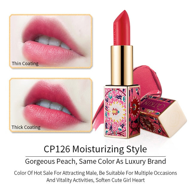 CATKIN Eternal Love Rouge Lipstick 3.6g 10 colors Apricot Orang Wedding Red Gorgeous Peach Smooth Soft Texture Protects Lip Skin
