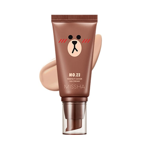 MISSHA Line Friends Edition Perfect Cover BB Cream 50ml SPF42 PA+++ CC Cream 30ml Foundation Concealer Nude Makeup BB Cream