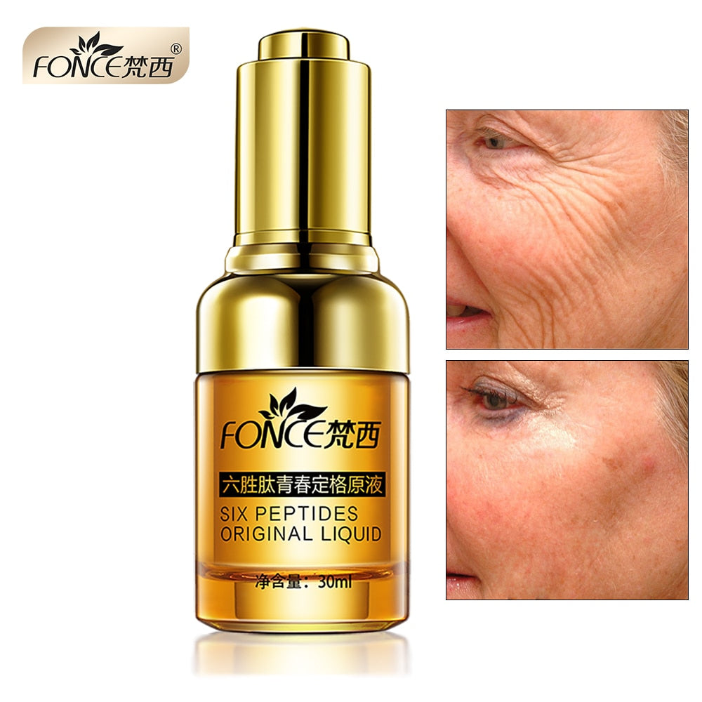 Korean Anti Wrinkle Remover Facial Serum Plant Anti Aging Lifting firming face 25-55 age Argireline Six Peptides Essence 30ml