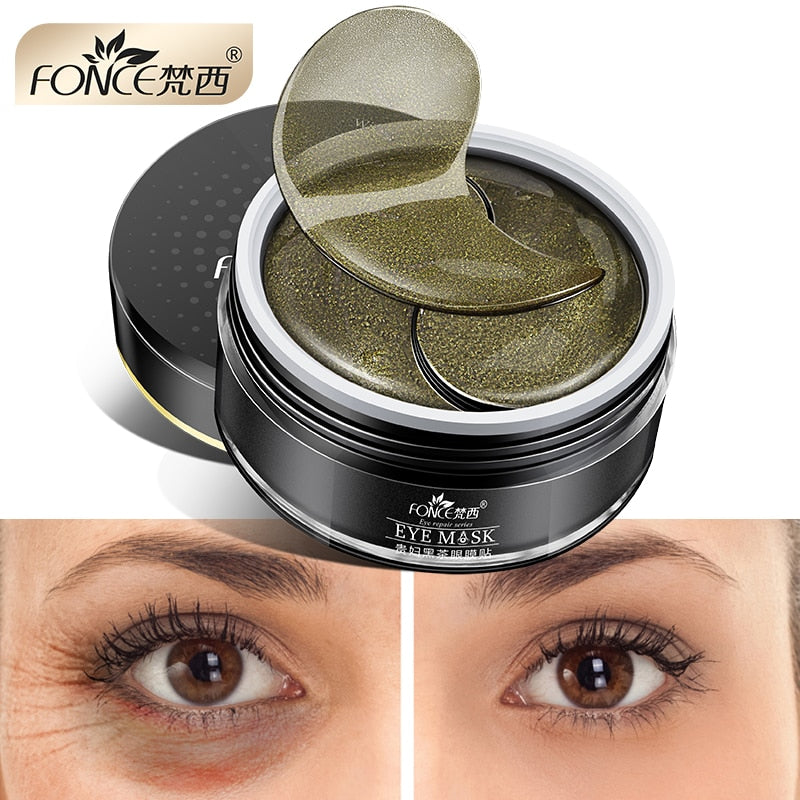 Korean Skin Care Black Tea Mask Collagen Gel Eye patches Natural organic remove dark circles Anti Age Bag Eye Wrinkle 60 Piece
