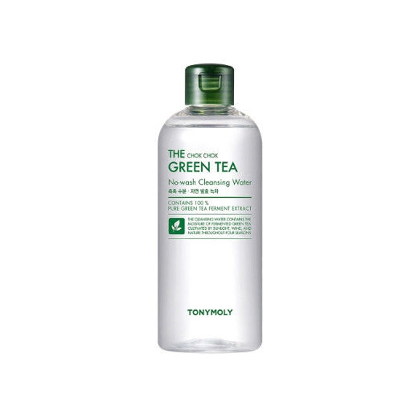 TONYMOLY The Chok Chok Green Tea No-Wash Cleansing Water 300ml Hydrating Cleansing Facial Serum Makeup Remover Cleaner Liquid