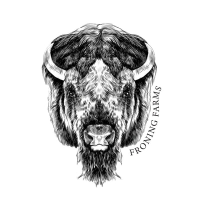 Classic Bison Head Decal