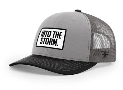 Into The Storm Hat // Light Grey & Black