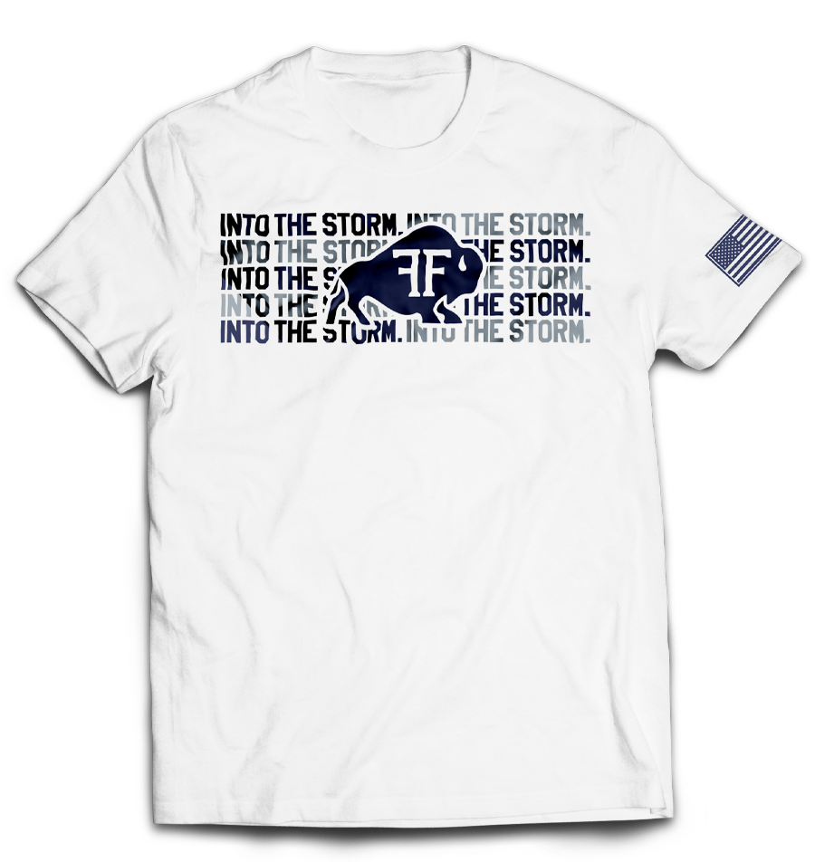 Bison Into The Storm 1.0 Tee // White