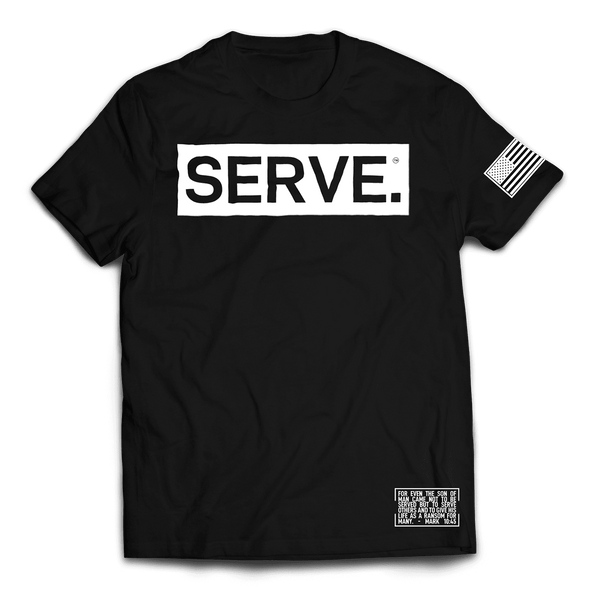 SERVE. Tee // Black & White