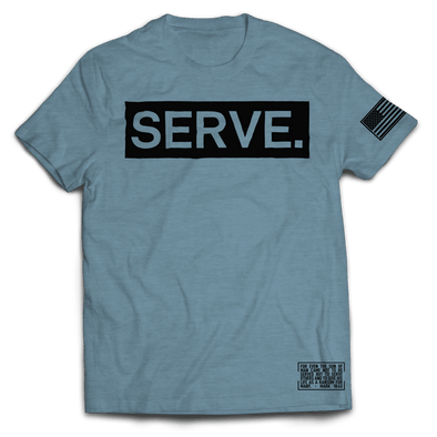 Serve. Tee // Heather Slate