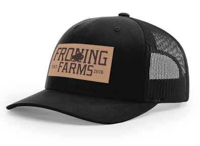 Leather Patch Hat/ Black