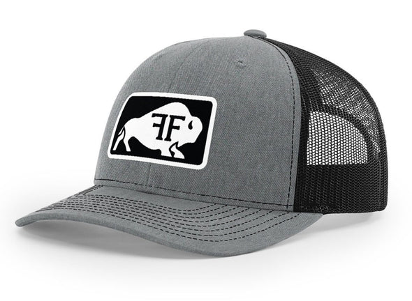 Bison Hat // Light Grey & Black