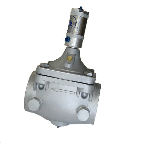 "80mm (3"") Aluminium CLA Type Valve with NPT Threaded Ends - Hydraulic Actuated"