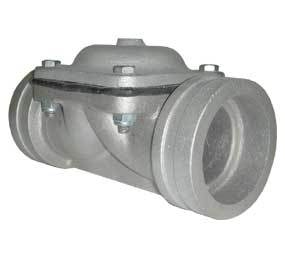 "80mm (3"") Valve with Rolled Groove Ends - Air Actuated (Normally Open) Shutoff Valve"