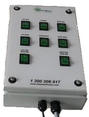 SPECIAL - Electric Switch Control Box - Steel Enclosure (8 Function)