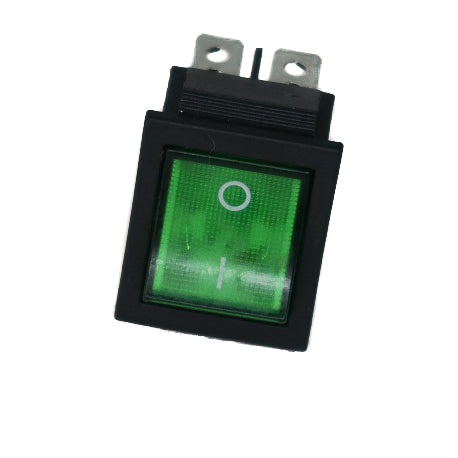 Electric On-Off Switch- 12 or 24V (in cab) Green -  AGM Type