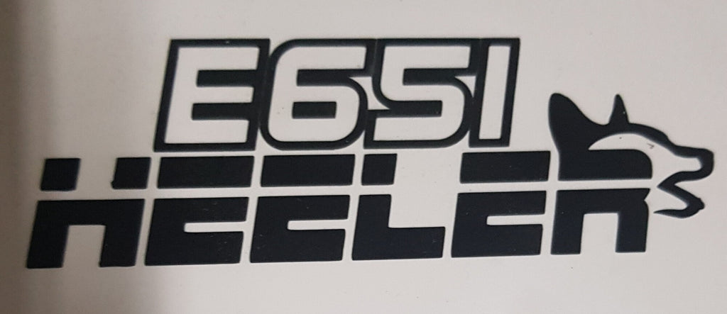 Sticker - E651 HEELER - Cut Out
