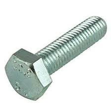 "3/8 x 1"" Hex Bolt Zinc Plated"