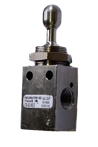 Pneumatic Toggle Switch - 3 Position, 3 Way
