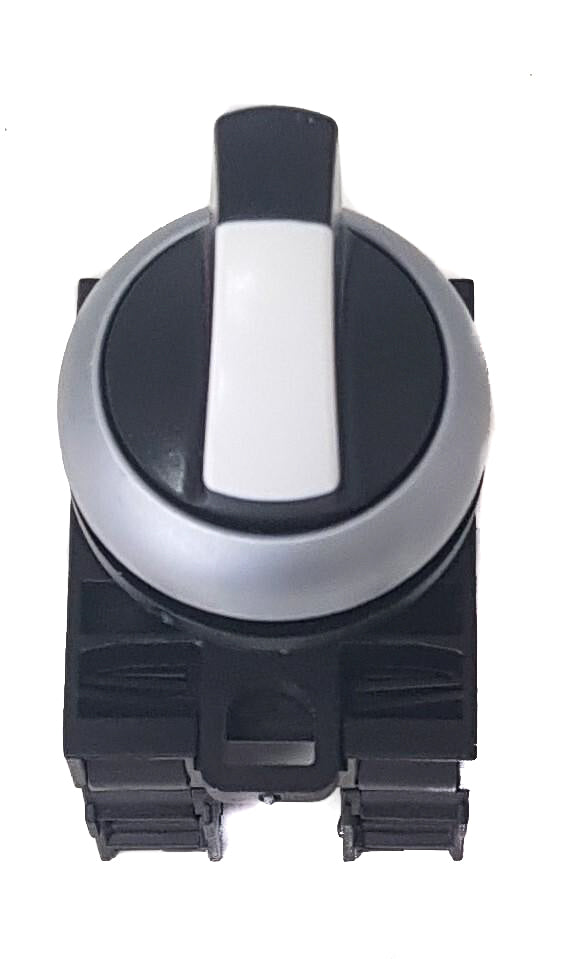 Electric Cannon, Electric Nozzle In-Out Switch- 12V (in cab) White -  3 Position Momentary Rotary Type
