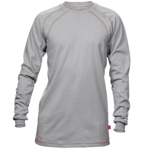FR Crew Cotton Jersey Shirt Gray - Pipeline Pro Supplies