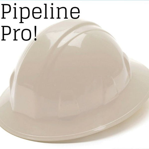 Full brim white hard hat - Pipeline Pro Supplies