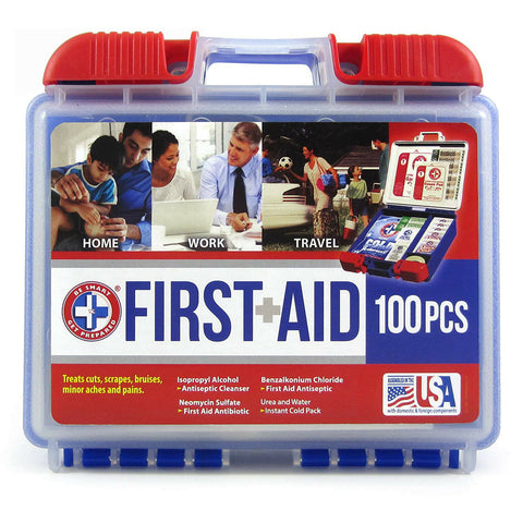 100 Piece First Aid Kit Emergency Medical - Pipeline Pro Supplies