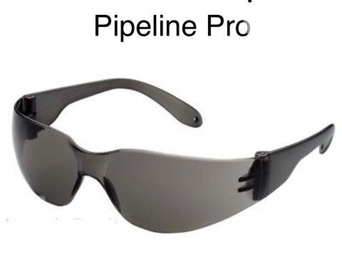 12 pack dark safety glasses - Pipeline Pro Supplies
