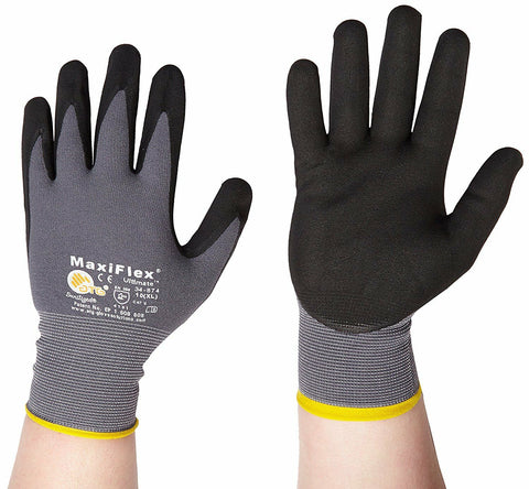 ATG Work Gloves Nitrile Grip  Ultimate Size  (L,XL) 12 PACK - Pipeline Pro Supplies