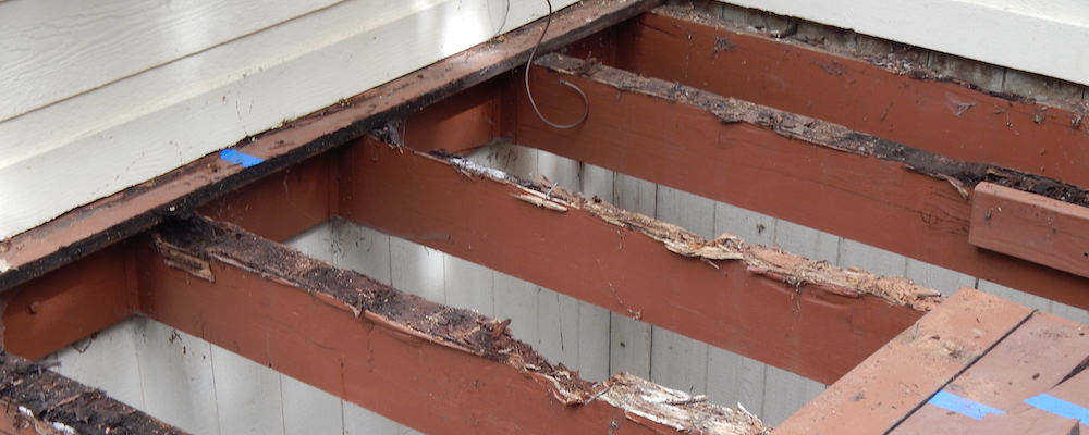 Structural deck rot