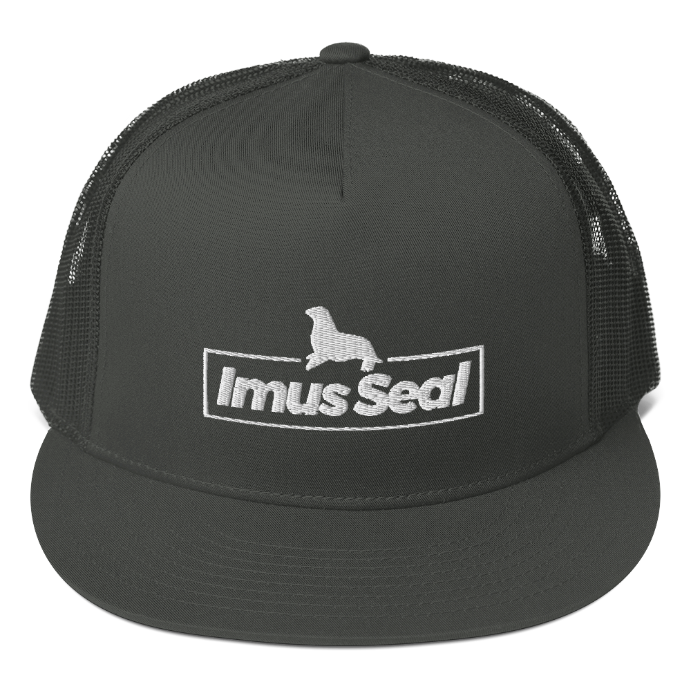 Imus Seal Five Panel Trucker Hat - Gray