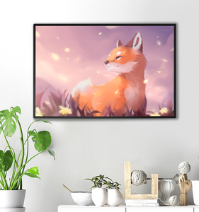 Fox in the Fields Print