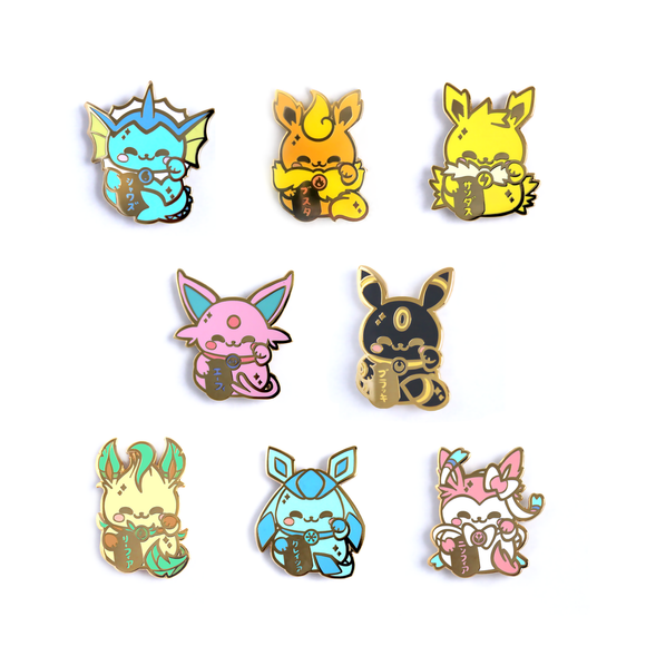 Set of 8 Eeveelution Maneki Pins