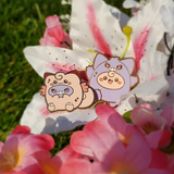 Gengar and Clefable Pins