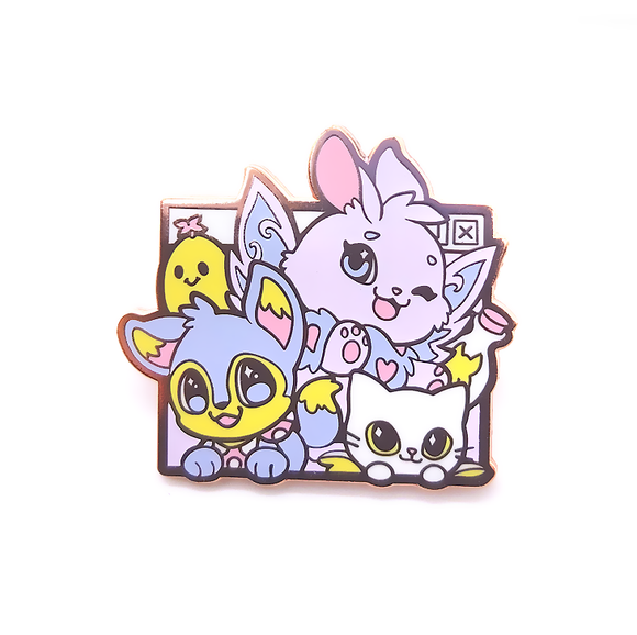 Faerie and Baby Neopets Pin