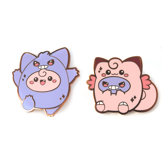 Gengar and Clefable Pin Set
