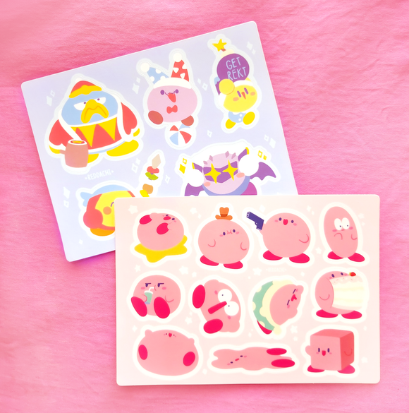 Kirby Sticker Sheet Set (Best Deal!)