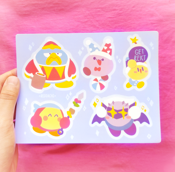 Kirby Frenemies Sticker Sheet