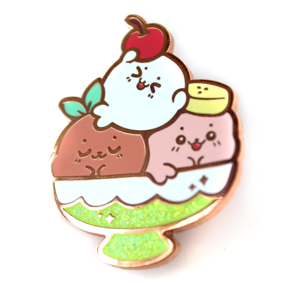 Sundae Seals Pin (Glittered!)
