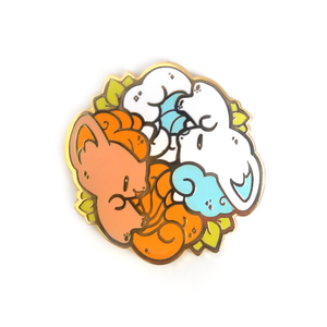 Vulpix Fire and Ice Pin