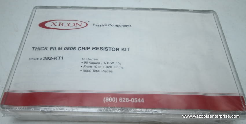 XICON PASSIVE THICK FILM 0805 CHIP RESISTOR KIT 292-KT1